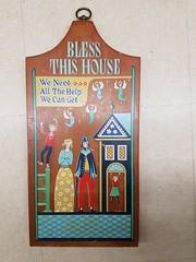 Bless this House (KJDavis6) Tags: wunderkammer swedishthemed cuttingboard wood blessthishouse
