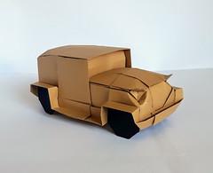 Vintage car (orig4mi.) Tags: car origami paperfolding
