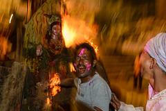 Fire (SaumalyaGhosh.com) Tags: people god idol fire dahan holika night drama india benaras varanasi street streetphotography