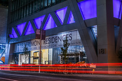 now selling 181 (pbo31) Tags: bayarea california nikon d810 color dark night city urban may 2018 boury pbo31 sanfrancisco lightstream traffic motion roadway financialdistrictsouth architecture contemporary black 181fremont purple