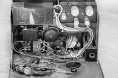 DSCF4187-2086.jpg (RHMImages) Tags: morsecode xt2 radios benicia blackandwhitemonochrome bnw fuji key restoration bug historic fujifilm hamradio