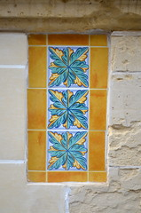 Tiles [Sliema - 26 April 2018] (Doc. Ing.) Tags: 2018 malta sliema tassliema tile yellow blue ceramic