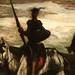 DAUMIER Honoré,1850 - Don Quichotte et Sancho se rendant aux Noces de Gamaches, dans la Montagne (Tokyo) - Detail 15