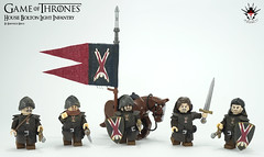 GoT House Bolton Light Infantry - by Barthezz Brick (Barthezz Brick) Tags: lego afol moc castle medieval game gameofthrones sword infantry light house bolton barthezz barthezzbrick bear maiden fair legos legocreator minifig minifigure custom brick shield horse