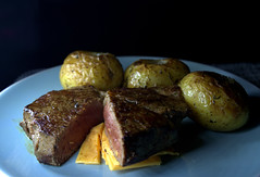 Fillet Steak with Garlic New Potatoes (Tony Worrall) Tags: add tag ©2018tonyworrall images photos photograff things uk england food foodie grub eat eaten taste tasty cook cooked iatethis foodporn foodpictures picturesoffood dish dishes menu plate plated made ingrediants nice flavour foodophile x yummy make tasted meal nutritional freshtaste foodstuff cuisine nourishment nutriments provisions ration refreshment store sustenance fare foodstuffs meals snacks bites chow cookery diet eatable fodder fillet steak garlic new potatoes cheese meat beef