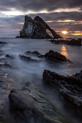Bow Fiddle Rock (adamcaird) Tags: canon6dmkii canon leefilters sun sunrise sunlight orange beach water sea seascape outdoors natgeo natural 1635f4 longexposure rocks seaside 6dmkii canonuk