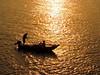 Rock The Boat (Khaled M. K. HEGAZY) Tags: nikon coolpix p520 maadi cairo nature outdoor closeup nile river nilesmart boat fishing fisherman silhouette yellow white orange black