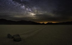 Escape From Mordor (WJMcIntosh) Tags: deathvalley racetrack playa sailing stones milkyway astrophotography