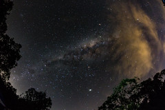 Clouds near and far (LivingStone Images) Tags: 2018 24apr18 365the2018edition 3652018 8mm beach centralcoast day114365 fisheye holiday milkyway night samyang stars