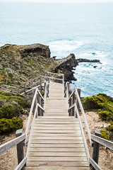 Stairs at cape Schanck (TanojevicTom) Tags: mornington melbourne 5dclassic canon5d bluewater ocean beachwalk beach woodensteps boardwalk capeschanck