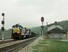 Gladstone VA Saturday October 14th 1995 1020EDT (Hoopy2342) Tags: train rail railroad railway station gladstone virginia virg jamesriver csxt