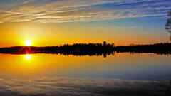1st Ice Free Sunset Since November (Bob's Digital Eye) Tags: bobsdigitaleye canon canonefs1855mmf3556isll lake lakesunsets lakescape may2018 silhouette skies sunsets t3i water laquintaessenza reflections h2o