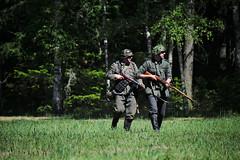 German Soldiers (jcubic) Tags: worldwar2 ww2 bliżyn war soldiers woods forest green german axis reenactment reenactors 2wojnaświatowa