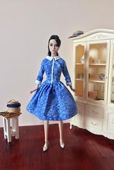 New Blue Dress (jenniffervalverde) Tags: poppyparker barbie mtm madetomove dress doll diorama scale16 bluedress