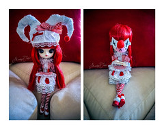 Dal Sentimental Noon [Adopted] (moodydolls) Tags: pullip dal sentimental noon doll bambola snowwhite biancaneve arsgratiaartis hat cappello jester giullare mask maschera white bianco red rosso portrait ritratto jpgroove indoor