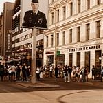 Tourists at Checkpoint Charlie thumbnail