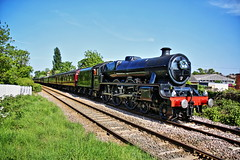 "LMS Jubilee class ""LEANDER"" (P.J.S. PHOTOGRAPHY) Tags: lms jubilee class leander 45690 4 6 at malton east crossing heading for train railroad locomotive people photo"
