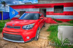 KIA Soul PR Flag Aguadilla ,Puerto Rico (Hector A Rivera Valentin) Tags: kia soul wave puerto rico aguadilla west coast ruinas de borinquen isla del encanto bandera flag beach mar