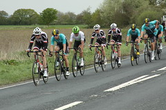 2nd group on the road. (Steve Dawson.) Tags: tourdeyorkshire mens cycle race bikes uci tdy peloton teams stage1 beverleytodoncaster portington yorkshire england uk canoneos50d canon eos 50d ef28135mmf3556isusm ef28135mm f3556 is usm 3rd may 2018