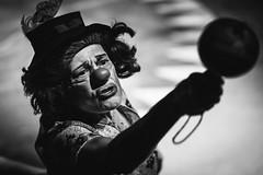 Clown with a maraca. (caiopetronio) Tags: chiaroscuro indigenous brazil maracas music circus 105 nikond600 monochrome clown