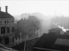(frscspd) Tags: 05610003 20170703 pentax pentaxmx mx takumar takumar58mm 58mm ilford ilfordxp2 ilfordxp2400bw xp2 film filmgrain contrejour cj venice venezia roof roofscape smoke mist fog sunshine sun aerialperspective