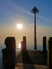 Jetty Sunset (Colin Weaver) Tags: smartphone aberystwyth jetty pier sea sunset blue