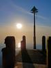 Jetty Sunset (Colin Weaver) Tags: smartphone aberystwyth jetty pier sea sunset blue