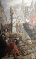 Pantheon: painting of Joan of Arc about to be burnt at the stake by   Jules-Eugène Lenepveu (John Steedman) Tags: pantheon panthéon フランス france frankreich frankrijk francia parigi parijs 法国 パリ 巴黎