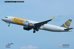 Primera Air OY-PAA Airbus A321neo departing London Stansted Airport 18 May 2018 on inaugural flight to Boston (bananamanuk79) Tags: planewatch pictures aviation airplane airport london flying flight runway air travel transport pilot avgeek airways takeoff departure flyer vehicle outdoor airliner jet jetliner flyers travelling holiday jumbo logo livery painted airplanes aicraft photos aviationphotos airline airliners airlines planespotter airbus airbusa321 primera primeraair a321neo airbusa321neo newengineoption new technology oypaa stansted londonstanstedairport