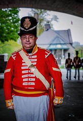 William of the 100th Regiment (Dan Haug) Tags: 100thhrhprinceregent'scountyofdublinregiment reenactment ontario ottawa châteaulaurier preparation drills marching fujifilm xpro2 xf35mmf14r xf35mm redcoat
