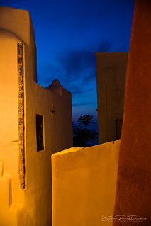 Blue Hour in Oia street