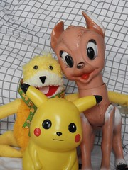 HAPPY CLASSICS COMIC-SCENE (garydavidworthington) Tags: toys classic cool yellow bambi flateric pikachu comicscene liverpool eyes smile smileonsaturday three old collectables