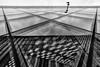 Two Lines (Leipzig_trifft_Wien) Tags: berlin deutschland de architecture modern contemporary reflection window glass mirror black white building urban blackandwhite lines geometry symmetrical