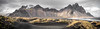 Vestrahorn Panoramic (Fret Spider) Tags: iceland island ocean atlantic beauty vacation relax recuperate europe wonder natural serene serenity peace wife skancheli sky rock grass outdoors panoramic dslr wideangle ultrawideangle canoneos5dsr canonef1635mmf4isusm wind rain hail weather stdokksnes stokksnes vestrahorn mountain landscape sand dune ripple 800kr clouds handheld