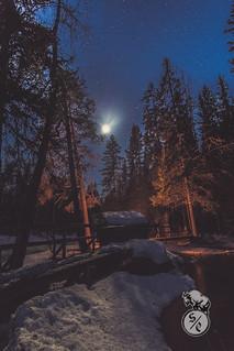 Moonlit night at Myllykoski