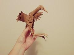 """""""Dancing Crane"""" by Robert Lang (matamadae) Tags: dancing crane origami robert lang bird papercraft"""