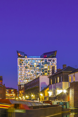 The cube seen from Gas Street Basin