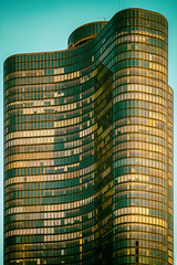 Building a Little Mies (Thomas Hawk) Tags: america chitown chicago chicagoarchitecturerivercruise chicagoriver illinois lakepointtower miesvanderrohe schipporeitandheinrich usa unitedstates unitedstatesofamerica architecture us fav10 fav25 fav50 fav100