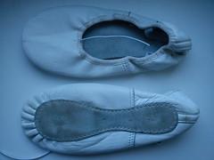 White ballet slippers leather (ninel1940) Tags: balet ballet ballerina balerina ballerinas shoe shoes sole soft leather balletslippers dance dancer cvicky cvičky