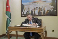 Secretary Pompeo Signs Guest Book Before Meeting with Jordanian Foreign Minister Ayman Safadi (U.S. Department of State) Tags: mikepompeo jordan amman