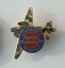 1991 Doncaster Wartime WAAF Reunion enamel badge (RETRO STU) Tags: 1991doncasterwartimewaafreunion womensauxiliaryairforce waaf waafs raf royalairforce secondworldwar ww2 enamelbadge