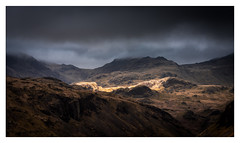 Great Moss and the Scafell Range - Explore No.38 - 30.04.18 (muddybootsuk) Tags: hardknott romans clouds landscape moody brooding sun spotlight mountains rain lakedistrict cumbria muddybootsuk greatbritain england unitedkingdom scafell greatmoss nikond810 nikkor28300mm