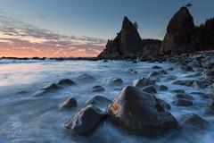And the dish ran away with the spoon (Becky Spiker) Tags: coast ocean olympicnationalpark pacific rialtobeach rocks seastacks sunset washington waves