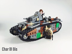The WW2 French beast! (-=Spectre=-) Tags: vert green noire benis benus big huge french heavy tank lego charb1