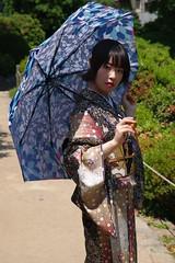 Nao (runslikethewind83) Tags: japan model lady woman kimono japanese asian parasol dress 着物 モデル 日本
