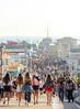 standing room only (Karol Franks) Tags: beach pier santamonica springtime socal losangeles people day