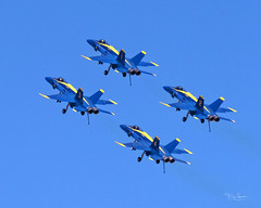 United States Navy Blue Angels performing at the 2018 Luke Days, Luke Air Force Base in their Boeing F/A-18C Hornet's (Hawg Wild Photography) Tags: united states navy blue 2018lukedays lukeairforcebase terrygreen hawg wild photography air show boeing fa18c hornet usn commander eric c doyle lieutenant damon kroes usmc major jeff mullins nate scott angels