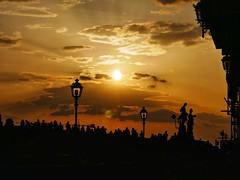 Gold (francescorullo61) Tags: clouds sky sun people bridge firenze florence sunset