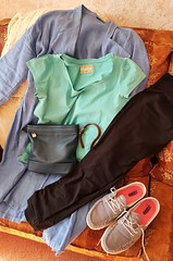 2018 0505 514 (SGS8+) Outfit for an evening barbecue; Keymer, Home (Lucy Melford) Tags: samsunggalaxys8 bag clothes shoes