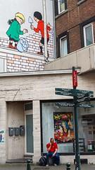 Oups ! (Hugues D) Tags: streetphotography quicketflupke brussels bruxelles bd hergé belgium belgique humour humor